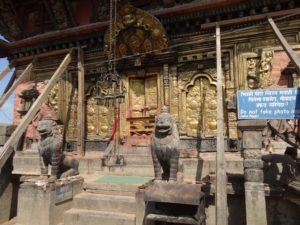 L'entrée du temple de Matsyendranath